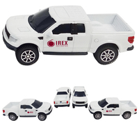 "3"" 1/64 Scale Diecast Metal Ford F150 White Pickup Truck"