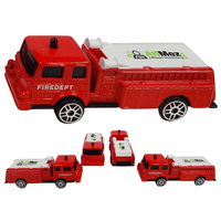 "3"" Scale Die Cast Fire Truck with Full Color Graphics"