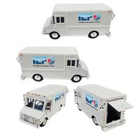 "1/48 Scale 5 1/2"" Diecast Metal Step Van with Full Color Dec"