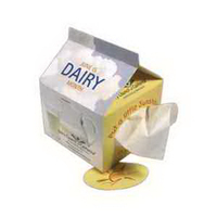Novelty Milk Carton Shaped Tissue Box