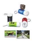 Pet Baggie Dispenser with Flashlight and Carabiner Clip