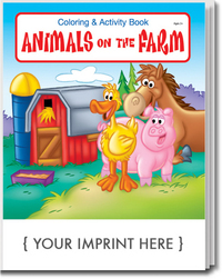 Animals on the Farm Coloring and Activity Book
