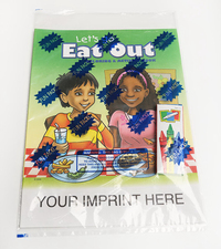 Let's Go Eat Out Coloring Book Fun Pack