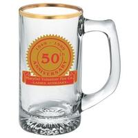 13 oz starburst glass mug