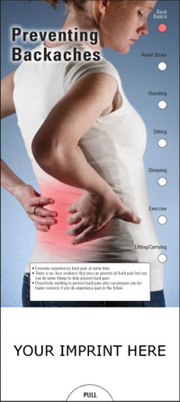Preventing Backaches Slide Chart