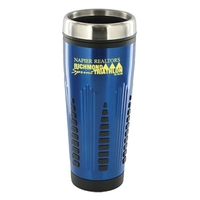 16 oz blue rocket travel mug