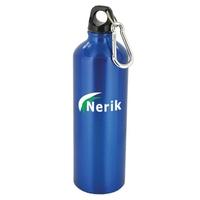 25 oz blue trek aluminum sports bottle