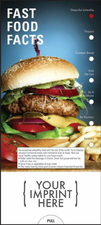 Fast Food Facts Slide Chart