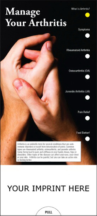 Manage your Arthritis Slide Chart