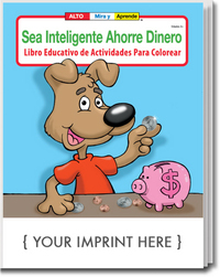 Be Smart, Save Money Spanish Coloring and Activity Book