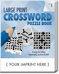 LARGE Print Crossword Puzzle Book - Volume 1