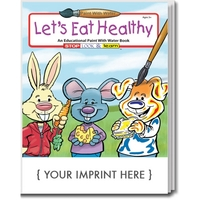 Let's Eat Healthy Paint With Water Book