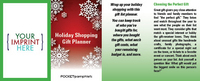 Holiday Shopping Gift Planner Pocket Pamphlet