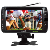 "Supersonic Portable 7"" LCD TV with Built in Digital Tuner an"