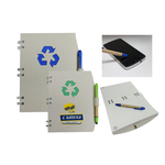 Recycled Color Notebook with Recycled Paper Stylus Pen