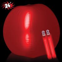 "Translucent 24"" Inflatable Beach Ball with Glow light Sticks"