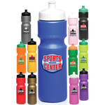 28oz. Push Cap Plastic Water Bottles