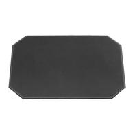 """Black Cut Corner Leatherette Placemat 17"""" x 12"""""""