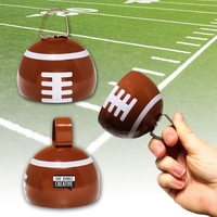 "3 1/2"" Football Metal Cowbell"
