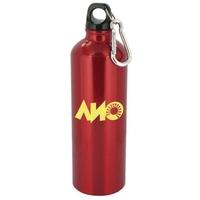 25 oz red trek aluminum sports bottle