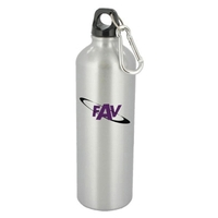 25 oz silver trek aluminum sports bottle
