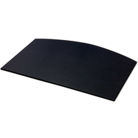 Classic Black Leather Arched Desk Mat