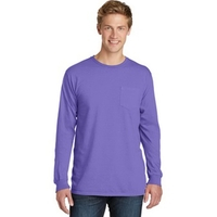 Port & Company Pigment-Dyed Long Sleeve Pocket Tee.