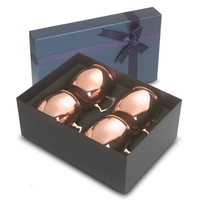 4- 18 oz Stainless w/copper finish Dutch Mule Gift Set
