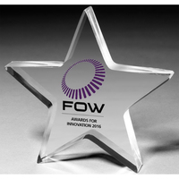 """1"""" Thick Star Shape Acrylic Paperweight"""