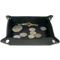 Classic Black Leather Travel Caddy