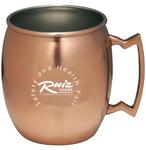 Copper coated Moscow mule mug