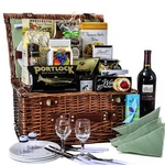 Picnic in The Park Wine Gift Basket