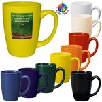 14oz Tall Vitrified Bistro Challenger mug, four color