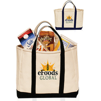 "13"" W x 8H inch Heavy Cotton Canvas Tote Bags"