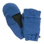 Royal Blue Fleece Fingerless Gloves w/ Mitten Flap