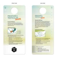 Prostate & Testicular Self-Exam - Hang Tag - Door Tag
