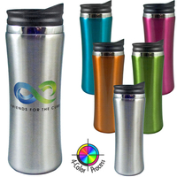 14oz Stainless Steel Travel Mug, four color