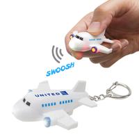 Miniature plastic Air Plane LED light keychain