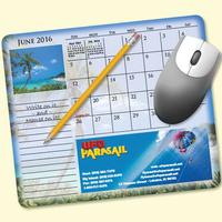 MousePaper(R) Calendar 12 Month (Landscape) Mouse Pad