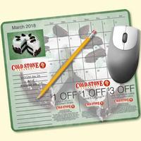 MousePaper(R) Calendar 18 Month (Landscape) Mouse Pad