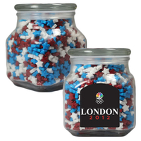 Large Glass Apothecary Jar with Candy Stars