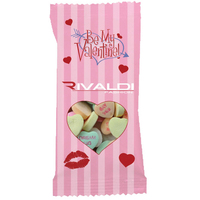 Snack Promo Pack Candy Bag with Custom Printed Conversation Hearts