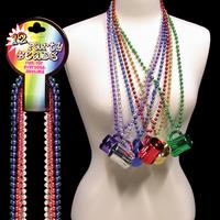 """Toy Beer Mug 33"""" Metallic Mardi Gras Beads"""