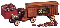 1930-Era Tractor-Trailer Truck with Chocolate Almonds