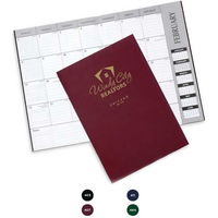 Leatherette Monthly Desk Planner