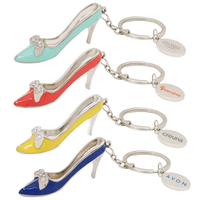 Miniature metal high heel keychain