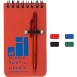 Pocket Sized Spiral Jotter Notepad Notebook with Pen
