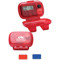 Single Function Step Counter Pedometer (w/Hinged Cover)
