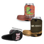 Full Color Boot Beverage Insulator Collapsible Coaster Botto