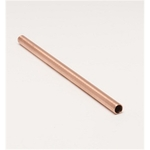 "Solid Copper Straw. 8""."
